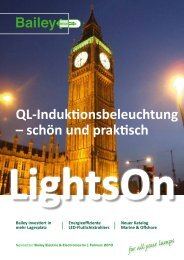 QL-Induktionsbeleuchtung – schön und praktisch - Bailey