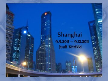 Shanghai - Oamk