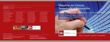 Maestría en Ciencia, Tecnología e Innovación - Universidad ...