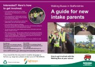 A guide for new intake parents - Staffordshire Safer Roads Partnership