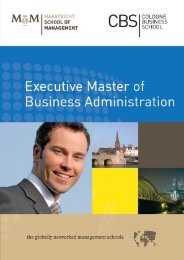 Emba-Brochure - Cologne Business School