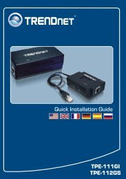 TPE-111GI TPE-112GS Quick Installation Guide - TRENDnet