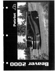 2000 Beaver Patriot Brochure PDF with Floorplans and Specs