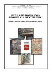 edifici in muratura in zona sismica rilevamento ... - Regione Toscana