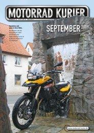 SEPTEMBER2009 - Motorrad-Kurier