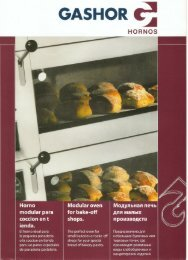 GASHOR - Cinch Bakery Equipment