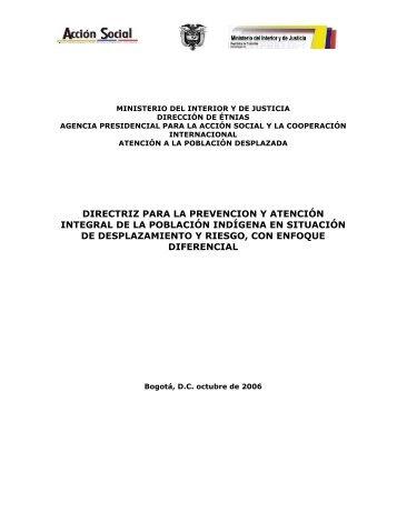 Directriz para la Prevención y Atención Integral de la población ...