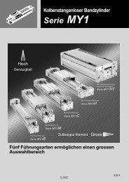 Kolbenstangenloser Bandzylinder