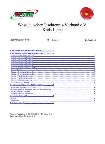 Kreisrundschreiben 5 - WTTV eV Kreis Lippe