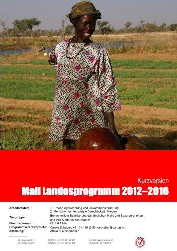 Mali Landesprogramm 2012–2016 - youngCARITAS