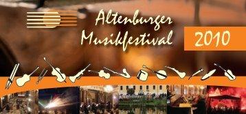 Altenburger Musikfestival 2010 - Altenburger Musikfestival 2013