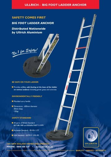 Big Foot Ladder Anchors - Ullrich Aluminium