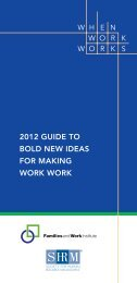 The 2012 Guide to Bold New Ideas for Making Work - Families and ...