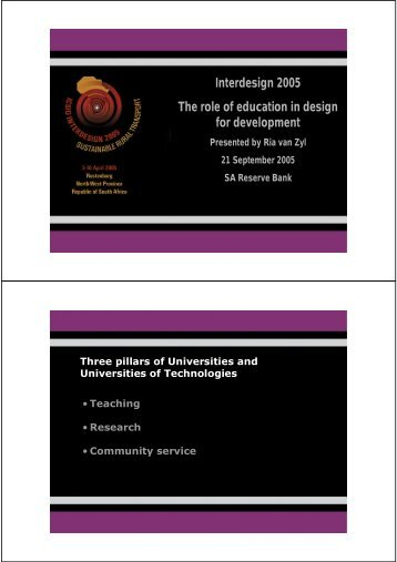 Implications for design education - Interdesign 2005