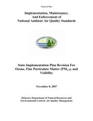 SIP - Delaware Department of Natural Resources and ...
