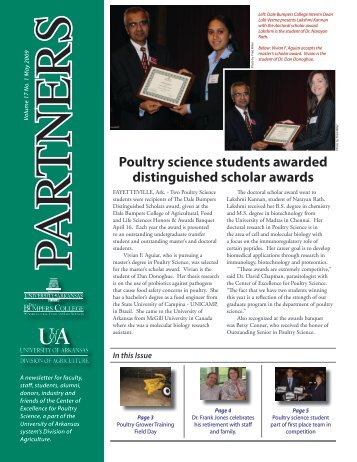 Poultry Science Students Awarded - Poultry Science - University of ...
