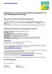 Einladung IG Albatross 2011