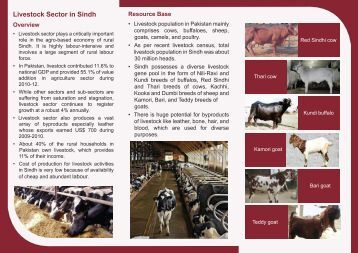 Livestock Flyer - Sindh Board Of Investment, Government Of Sindh