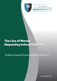 RCOG abortion guidelines - ArgentinosAlerta.org