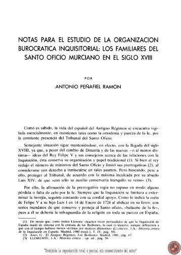 los familiares del Santo Oficio murciano en - Región de Murcia Digital