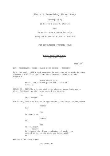full shooting script - Loske.org