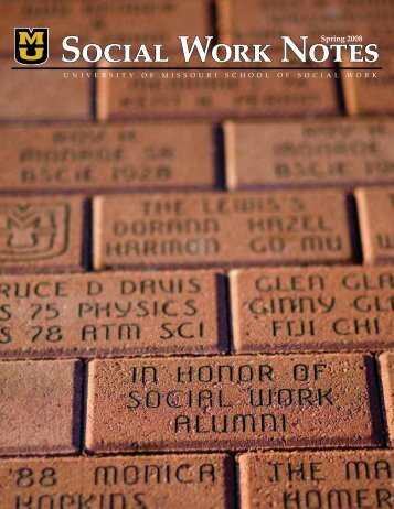 Spring 2008 - School of Social Work - University of Missouri