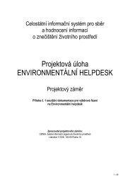 Projektový záměr - CENIA, česká informační agentura životního ...
