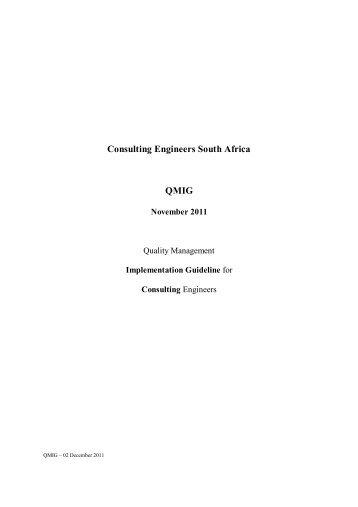 Quality Management Implementation Guideline (QMIG) - Cesa