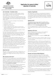 1276 - Application for general skilled migration to Australia