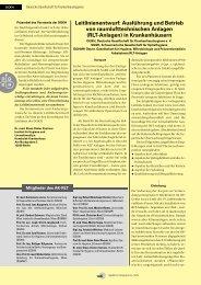 Ausführung und Betrieb von raumlufttechnischen Anlagen