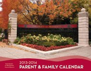 2013-2014 parent & family calendar - Orientation and First-Year ...