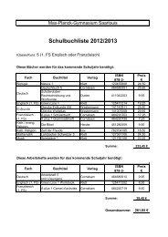 Schulbuchliste 2012/2013 - MPG Max Planck Gymnasium