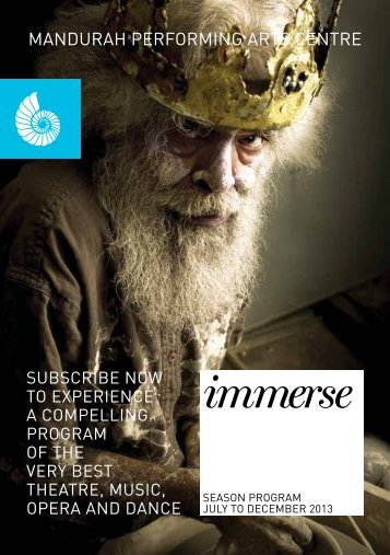 Download a Copy of Immerse - Mandurah Performing Arts Centre