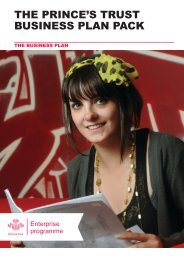 Business plan template - The Prince's Trust