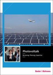 Broschüre Photovoltaik - Basler & Hofmann
