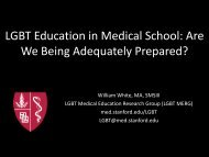 LGBT Education in Medical School: Are We Being ... - AAMC