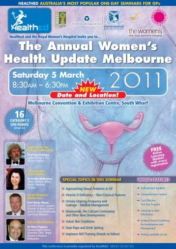The Annual Women's Health Update Melbourne