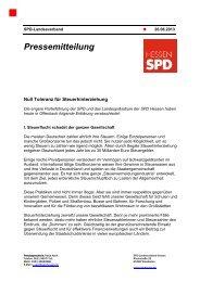 Null Toleranz für Steuerhinterziehung (Erklärung des ... - SPD Hessen