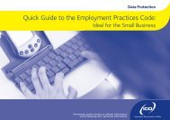 Quick guide to employment practices code