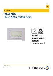 Instrukcja techniczna iniControl dla C330/630...ECO - De Dietrich