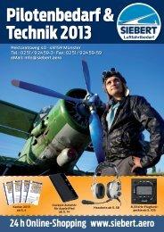 Pilotenbedarf & Technik 2013 - Siebert Luftfahrtbedarf GmbH