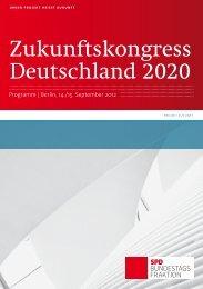 Zukunftskongress Deutschland 2020 - SPD Bundestagsfraktion