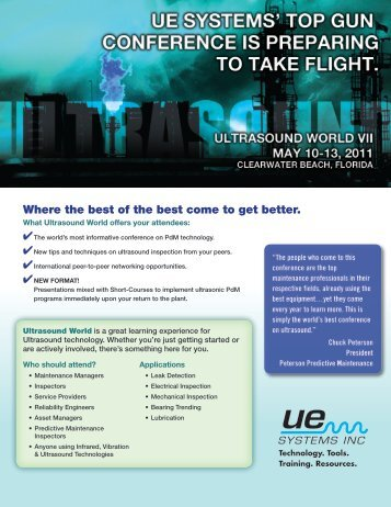 Where the best of the best come to get better. - UE Systems