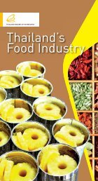 Thailand's Food Industry - The Board of Investment of Thailand
