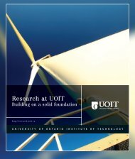 Research at UOIT - University of Ontario Institute of Technology