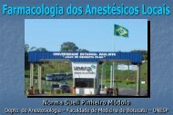 Farmacologia dos Anestésicos Locais - Unesp