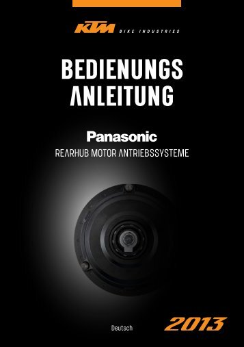Bedienungsanleitung Panasonic Heckmotor