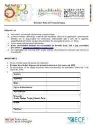 Solicitud- Pase de Prensa (2 hojas) - Velo-City 2011