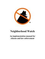 Neighborhood Watch Manual - Woodlands Online