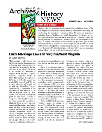 Virginia state dating laws